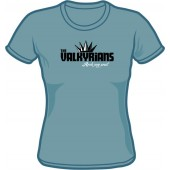Girlie Shirt 'Valkyrians' steel blue, sizes small - XXL