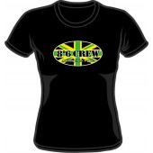 Girlie Shirt '8°6 Crew - Working Class Reggae' black, sizes small - XXL