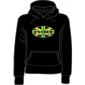 Girlie hooded jumper '8°6 Crew - Working Class Reggae' black, sizes small - XL
