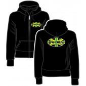 Girlie Zipper Jacket '8°6 Crew - Working Class Reggae' black, size M, L, XXL