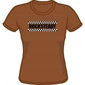 Girlie Shirt 'Rocksteady' chestnut brown, sizes small - XXL