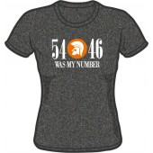 girlie shirt '54 - 46 Was My Number' dark heather grey - sizes M - XXL