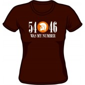 girlie shirt '54 - 46 Was My Number' chocolate brown- sizes M - XXL