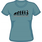 Girlie Shirt 'Evolution Of Ska' steel blue - sizes S - XXL