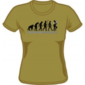 Girlie Shirt 'Evolution Of Ska' olive green - sizes S - XXL