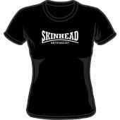 Girlie Shirt 'Skinhead Antifascist' black - Gr. S - XXL