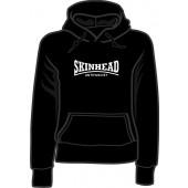 Girlie hooded jumper 'Skinhead Antifascist' black, sizes small - XL