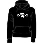 Girlie hooded jumper 'Trojan 2 Tone' black, sizes small - XXL