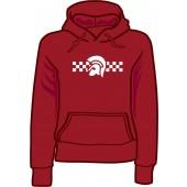 Girlie hooded jumper 'Trojan 2 Tone' burgundy, sizes small - XXL