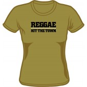 Girlie Shirt 'Reggae Hit The Town' olive - sizes S - XXL