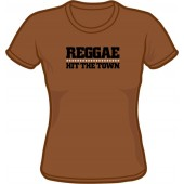 Girlie Shirt 'Reggae Hit The Town' chestnut brown - sizes S - XXL