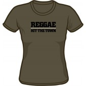 Girlie Shirt 'Reggae Hit The Town' dark grey - sizes S - XXL