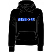 Girlie hooded jumper 'Tighten Up!' black, sizes small - XXL