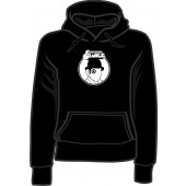 girlie hooded jumper 'Clockwork Orange' black, all sizes