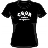 Girlie Shirt 'CBGB' black - Gr. S, M