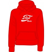 girlie hooded jumper 'Enjoy Soul Music' all sizes
