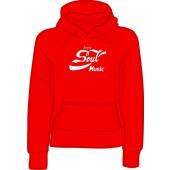 girlie hooded jumper 'Enjoy Soul Music' all sizes