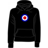 girlie hooded jumper 'Mod Style - Target' black all sizes
