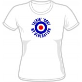 Girlie Shirt 'Talkin' 'bout My Generation' white, all sizes