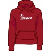 girlie hooded jumper 'Vespa - Vintage Logo' burgundy, all sizes