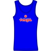 Girlie tanktop 'Vespa - The Real Scooter' royal blue, all sizes