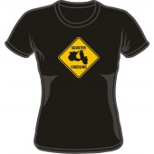 Girlie Shirt 'Scooter Crossing'  black all sizes