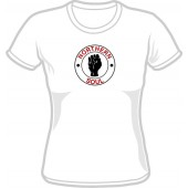 Girlie Shirt 'Northern Soul' red/black on white, all sizes