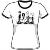 Girlie Shirt 'Sunny Domestozs - Ringershirt' all sizes