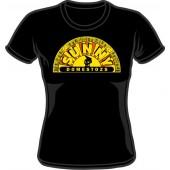 Girlie Shirt 'Sunny Domestozs' black - skull, all sizes