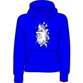girlie hooded jumper 'Sunny Domestozs - rat' blue all sizes