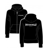 Girlie Zipper Jacket 'Psychobilly Made In Hell' black, sizes S - XL