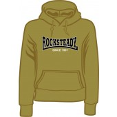 girlie hooded jumper 'Rocksteady Since 1967' olive, all sizes