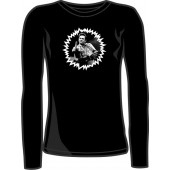 girlie long sleeve shirt 'F***finger' black, all sizes