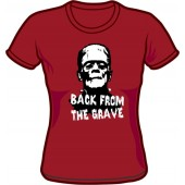 Girlie Shirt 'Back From The Grave' - burgundy, all sizes