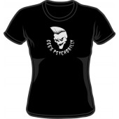 Girlie Shirt '666% psychobilly' black, all sizes