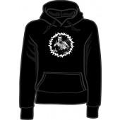girlie hooded jumper 'F***finger' black, all sizes