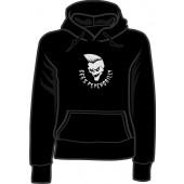 girlie hooded jumper '666% Psychobilly' all sizes