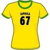 Girlie Shirt 'Jamaica 67 - Ringershirt' sizes small, medium, large