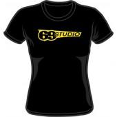 Girlie Shirt 'Studio 69' black, all sizes