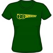 Girlie Shirt 'Studio 69' green, all sizes