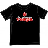kids shirt 'Vespa - The Real Scooter' black, 5 sizes
