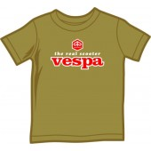 kids shirt 'Vespa - The Real Scooter' olive green, four sizes