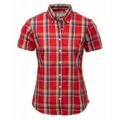 Relco Ladies burnt orange Check Shirt LSS 14, size 16/XL