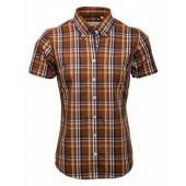 Relco Ladies brown Check shirt LSS 15, sizes 18/XXL