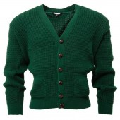 Relco Waffle Cardigan bottle green, sizes M, L