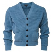 Relco Waffle Cardigan dusty blue, sizes S - 3XL