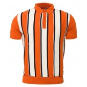 Relco Mens Knitted polo shirt - orange - VS-5, sizes M, L, XL