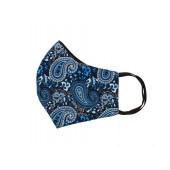 Relco Mask Blue & Black Paisley