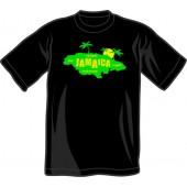 T-Shirt 'Jamaica Island' black all sizes