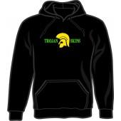 hooded jumper 'Trojan Skins' - black all sizes